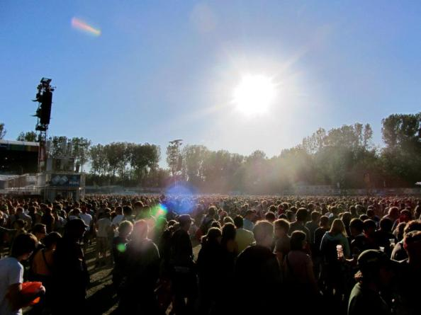 Sunset at Rock Werchter
