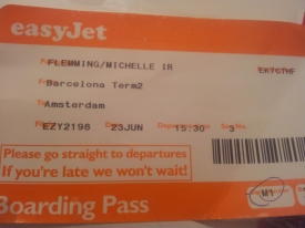 Boarding Pass Easyjet
