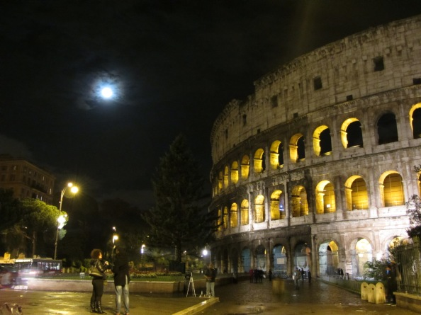 Rome Colosseo By Night